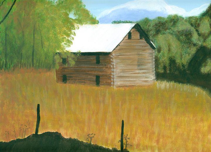 Old Log Barn - Kecia Ellis