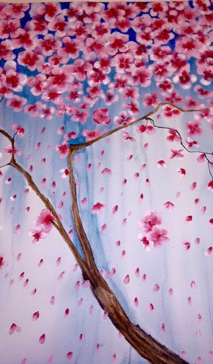 Raining blossoms - Jeannine Gissenaas