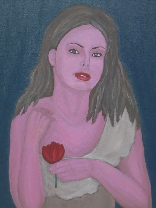 Girl with tulip - Olga Trotter