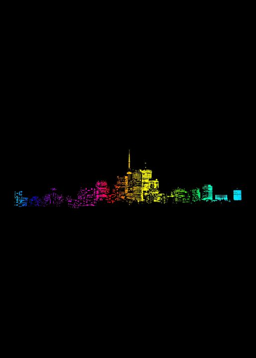 Toronto Skyline Gradient - The Learning Curve Photography