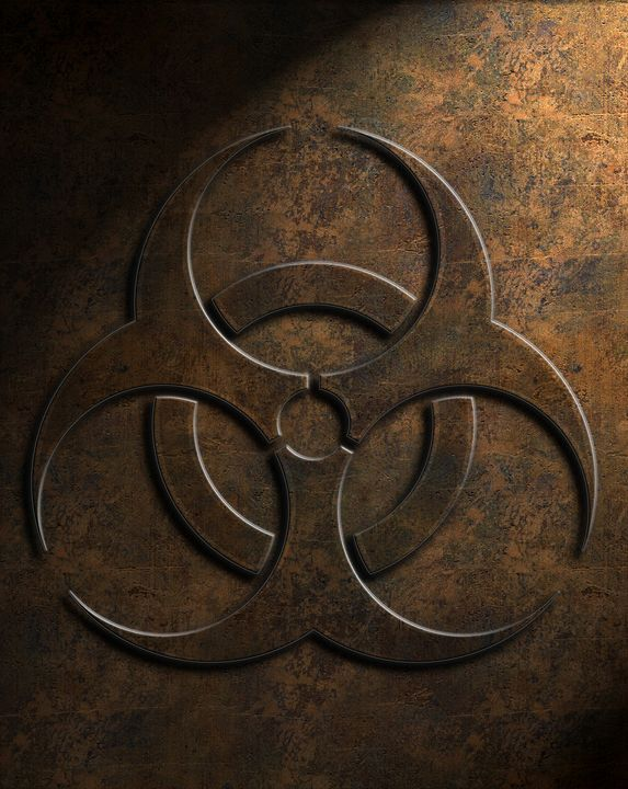 Biohazard Symbol Stone Texture - The Learning Curve Photography