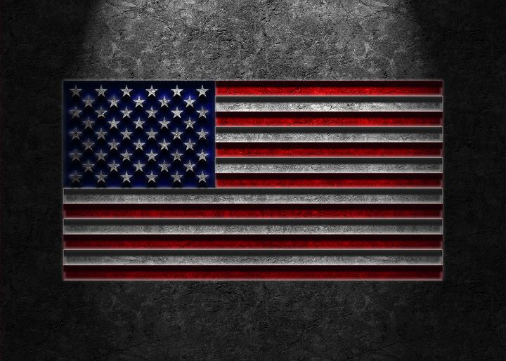 American Flag Stone Texture - The Learning Curve Photography