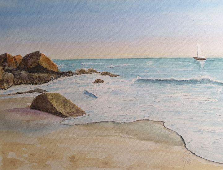Una playa - Liliana Blarasin