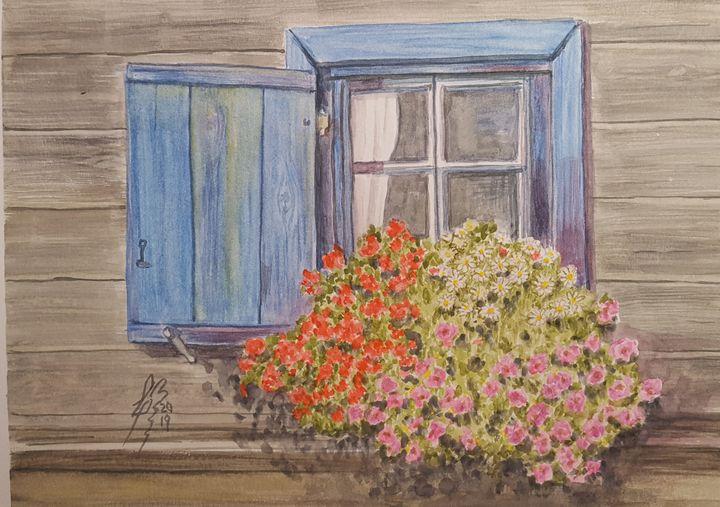 Ventana florida - Liliana Blarasin