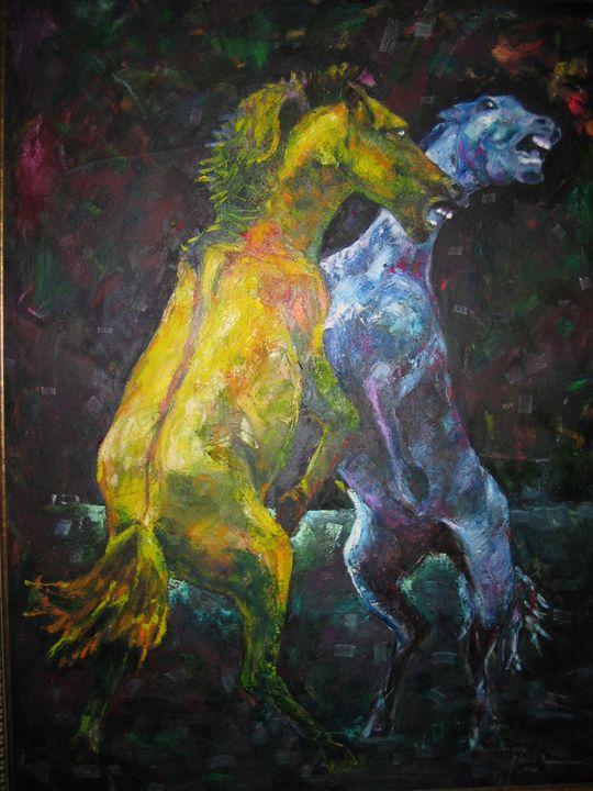 Horsefight - Bong Perez Art Gallery