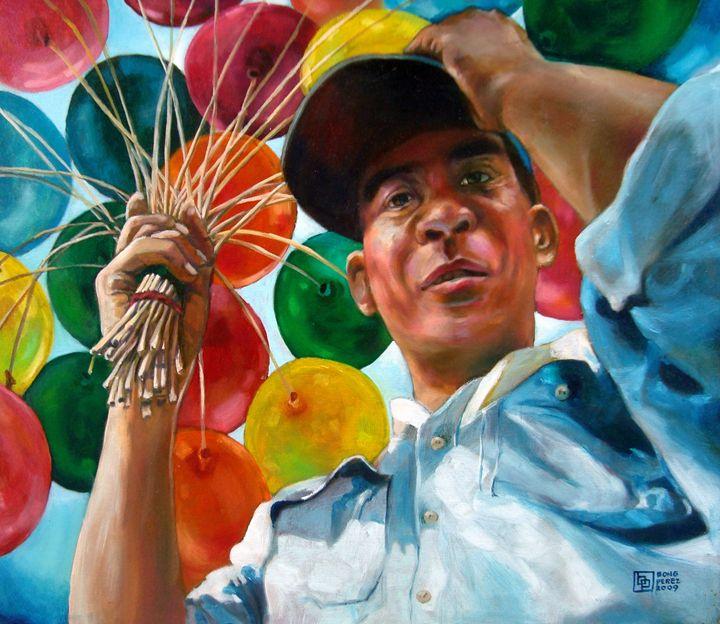 Balloon Vendor - Bong Perez Art Gallery
