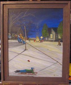 Pole Sledding (memories)