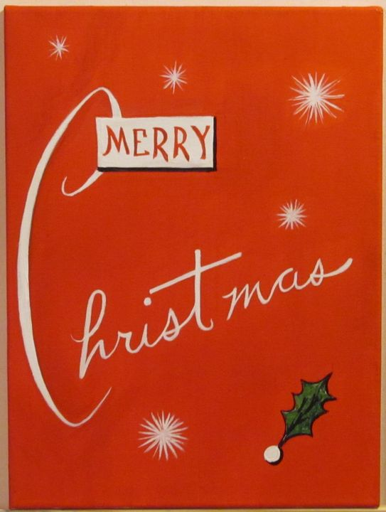Merry Christmas (retro) - Basketbottoms