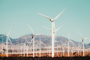 Wind turbine in the desert