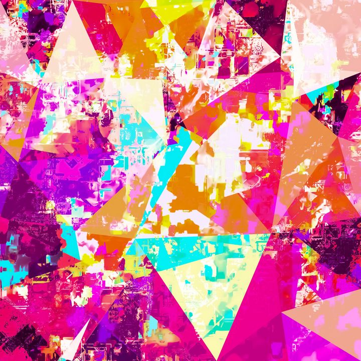 geometric triangle pattern abstract - TimmyLA