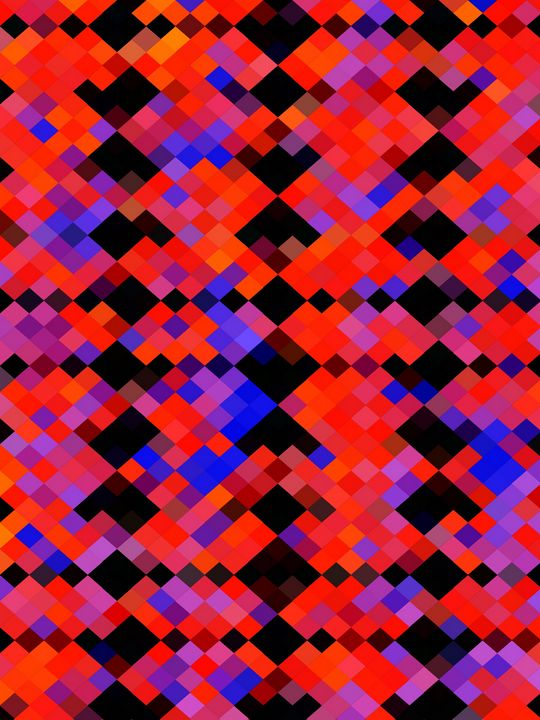 red and blue geometric square pixel - TimmyLA