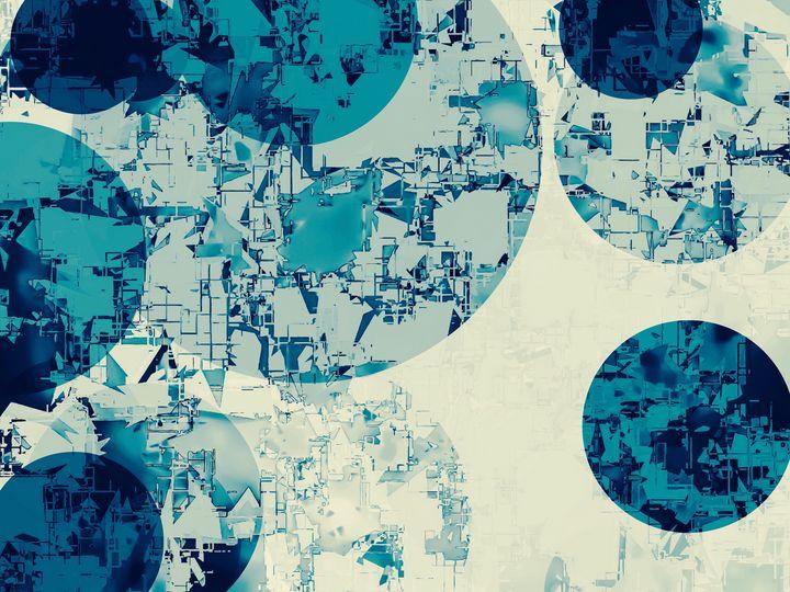blue geometric circle shape texture - TimmyLA