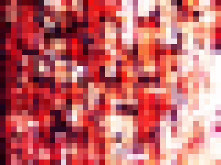 red geometric square pixel pattern - TimmyLA