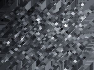 geometric square pixel pattern art