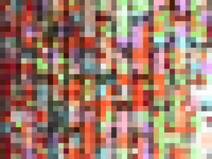 colorful geometric square pixel art
