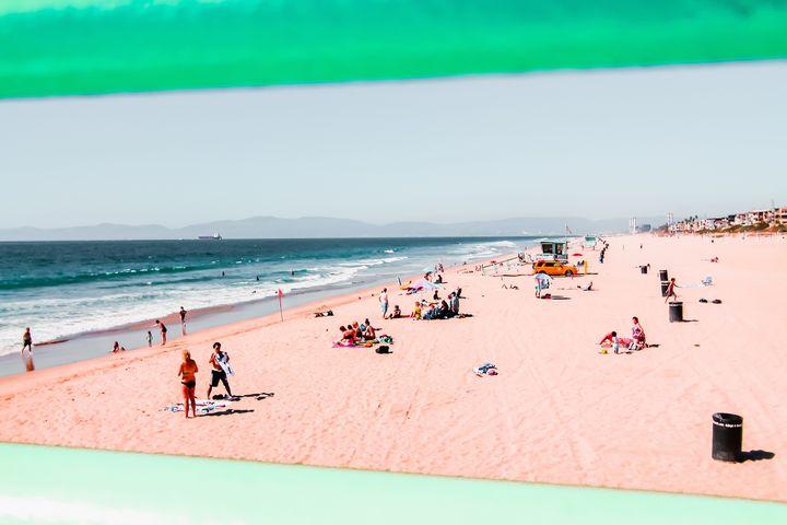 Summer beach at Manhattan beach USA - TimmyLA