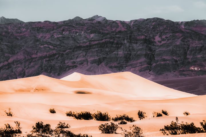 sand desert with mountain background - TimmyLA