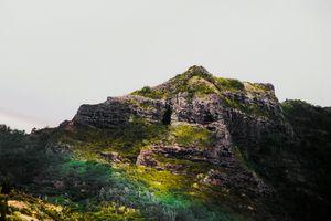 green tropical mountain at Kauai