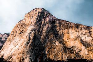 Closeup mountain Yosemite