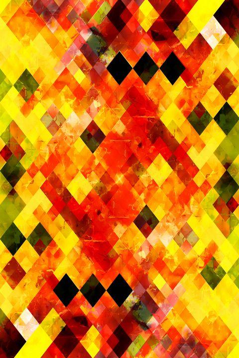 geometric square pixel pattern art - TimmyLA