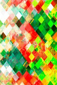 geometric square pixel pattern art
