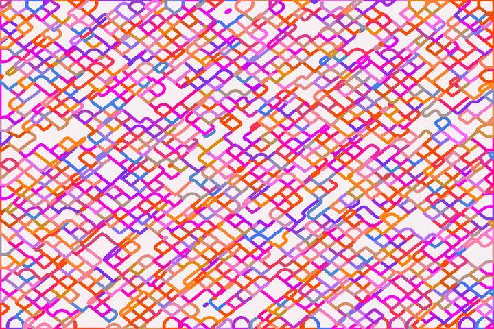 fractal geometric square pixel line - TimmyLA