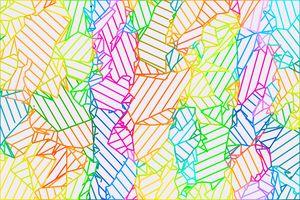 geometric fractal line abstract art