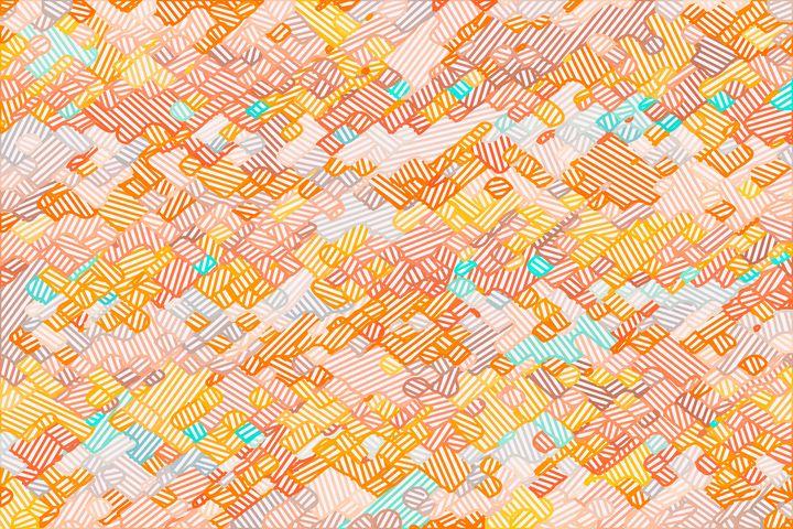 geometric square pixel line pattern - TimmyLA