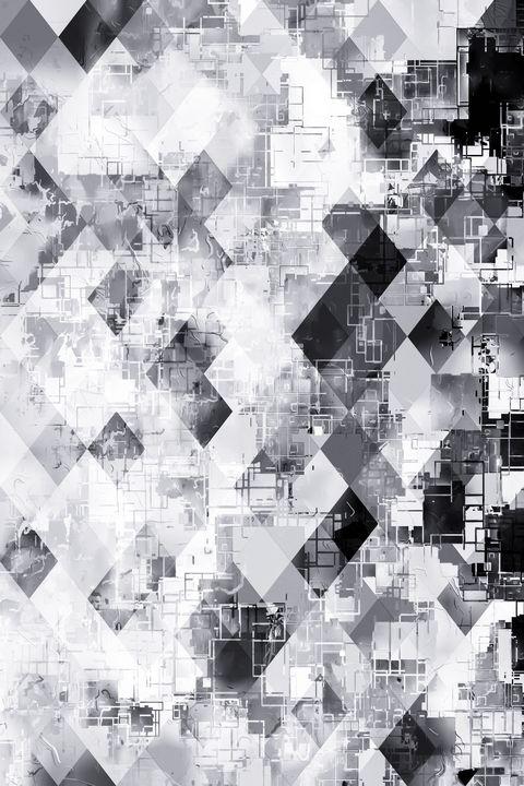 black and white geometric pattern - TimmyLA