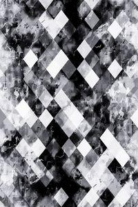 black and white geometric pixel art