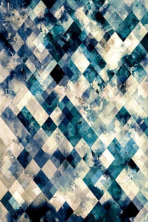 geometric pixel square pattern art - TimmyLA