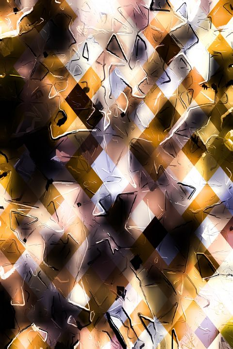 brown geometric pixel square pattern - TimmyLA