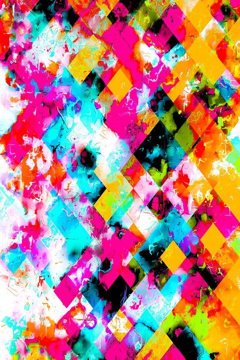 colorful geometric pixel pattern - TimmyLA