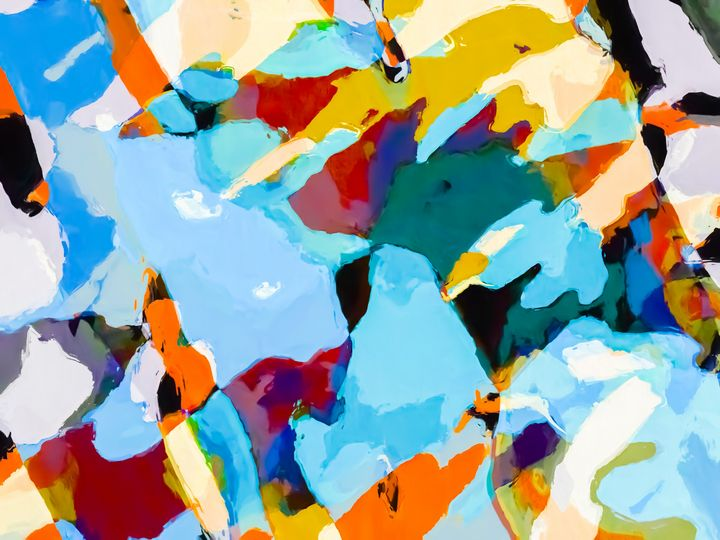 painting texture abstract in blue - TimmyLA