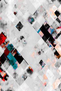 geometric pixel square pattern art