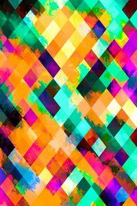 colorful geometric pixel pattern