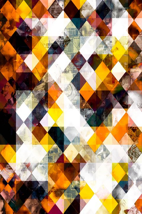 brown yellow orange geometric pixel - TimmyLA