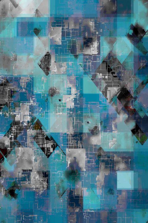 graphic design geometric pixel art - TimmyLA