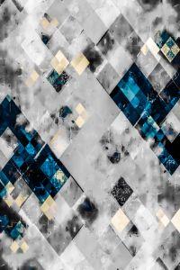 graphic design geometric pixel art