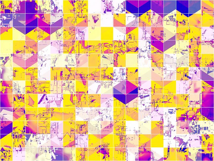 geometric square and circle pattern - TimmyLA