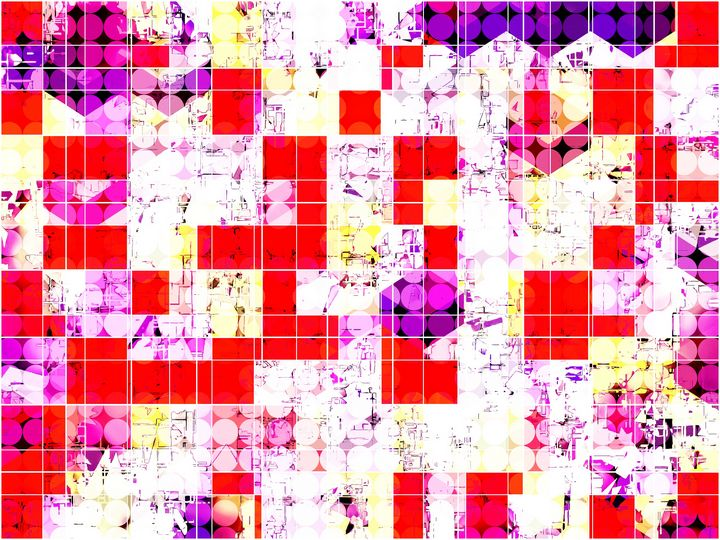 geometric circle and square pattern - TimmyLA