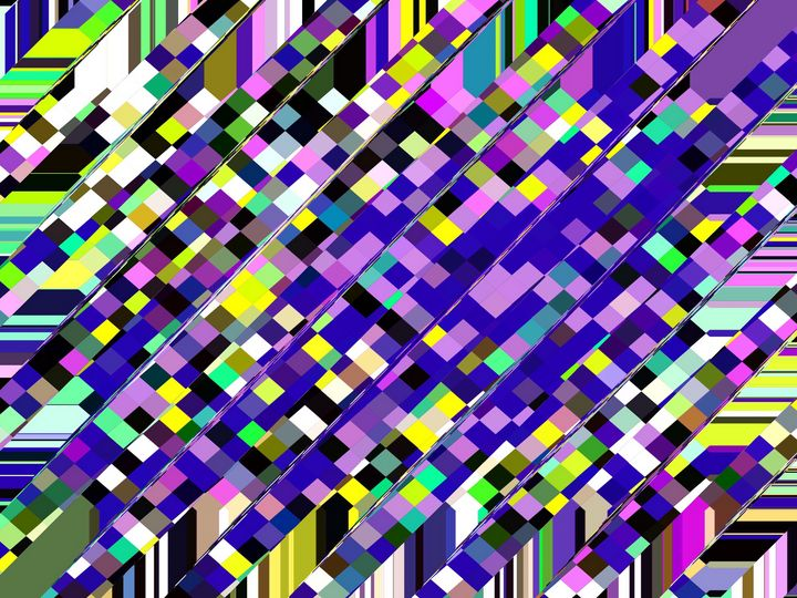 geometric pixel pattern abstract - TimmyLA