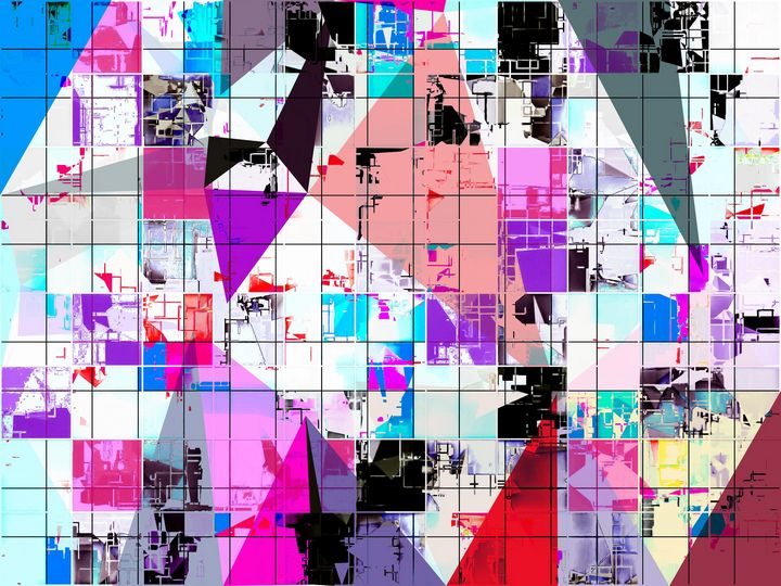 geometric triangle pattern abstract - TimmyLA