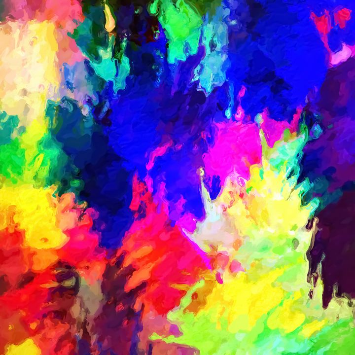colorful splash painting texture - TimmyLA