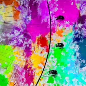 ferris wheel with colorful abstract