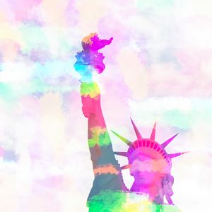 colorful statue of liberty