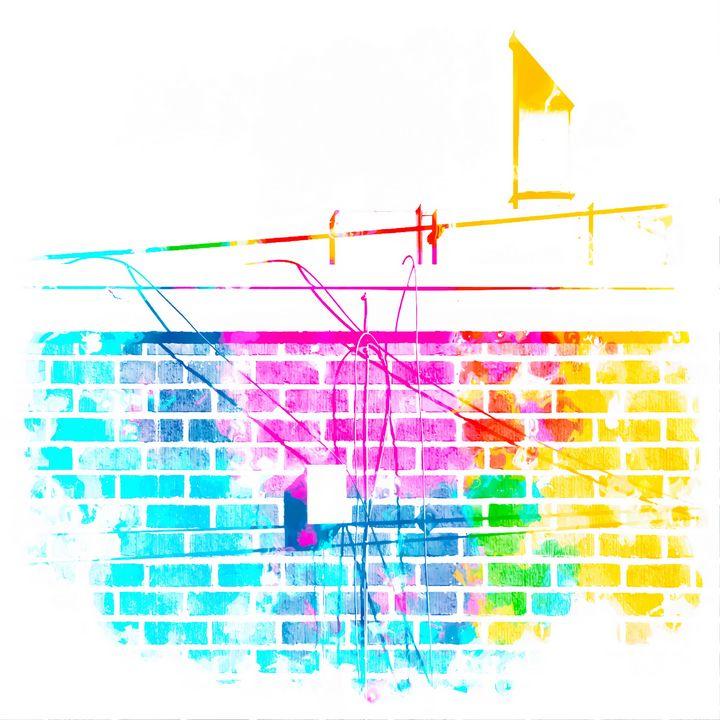 colorful brick building - TimmyLA