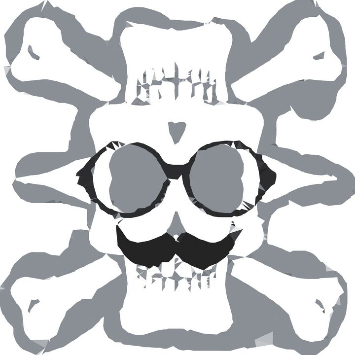 old funny skull art - TimmyLA