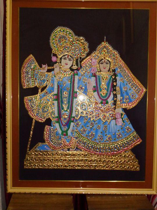 Krishna n Radha- Artwork is sold - neeruart