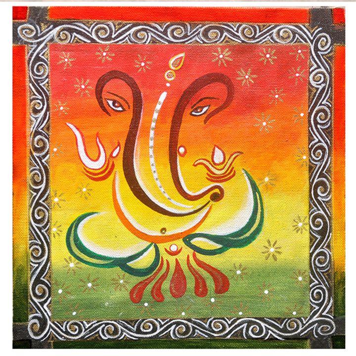 Shri Ganpati- Original Painting - neeruart